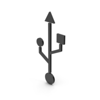 Symbol USB Black PNG & PSD Images