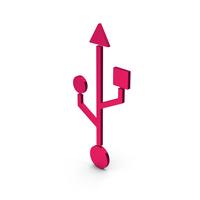 Symbol USB Metallic PNG & PSD Images