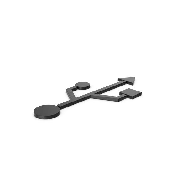 Black Symbol USB PNG & PSD Images