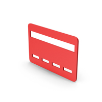 Symbol Bank Card Red PNG & PSD Images