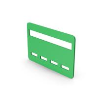 Symbol Bank Card Green PNG & PSD Images