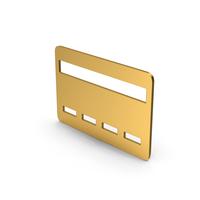 Symbol Bank Card Gold PNG & PSD Images