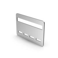 Symbol Bank Card Silver PNG & PSD Images