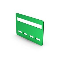 Symbol Bank Card Green Metallic PNG & PSD Images