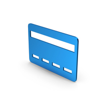 Symbol Bank Card Blue Metallic PNG & PSD Images