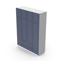Wardrobe White Blue PNG & PSD Images