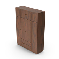 Wooden Wardrobe Dark PNG & PSD Images