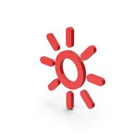 Symbol Sun Red PNG & PSD Images