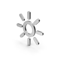 Symbol Sun Silver PNG & PSD Images