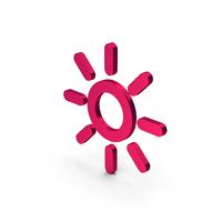 Symbol Sun Metallic PNG & PSD Images