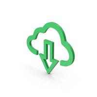 Symbol Cloud Download Green PNG & PSD Images