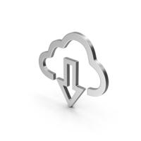 Symbol Cloud Download Silver PNG & PSD Images