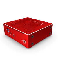 Mini PC Red PNG & PSD Images