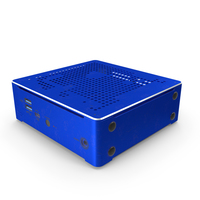 Mini PC Blue Used PNG & PSD Images