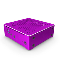 Mini PC Pink Used PNG & PSD Images