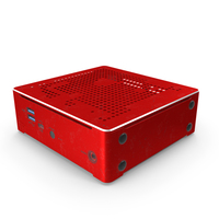 Mini PC Red Used PNG & PSD Images
