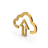 Symbol Cloud Upload Gold PNG & PSD Images