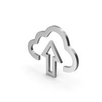 Symbol Cloud Upload Silver PNG & PSD Images