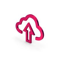 Symbol Cloud Upload Metallic PNG & PSD Images