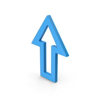 Symbol Arrow Up Blue PNG & PSD Images