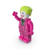 Lego Joker Dark Pink Pose PNG & PSD Images