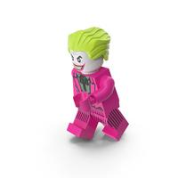 Lego Joker Dark Pink Running PNG & PSD Images
