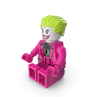 Lego Joker Dark Pink Sitting PNG & PSD Images