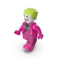 Lego Joker Dark Pink Walk PNG & PSD Images