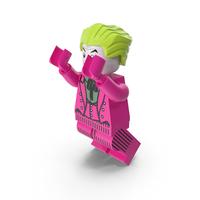 Lego Joker Dark Pink Jumping PNG & PSD Images