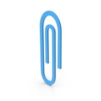 Symbol Paper Clip Blue PNG & PSD Images