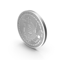 Silver Bitcoin PNG & PSD Images