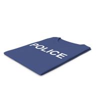 Female Crew Neck Folded Dark Blue Police PNG & PSD Images
