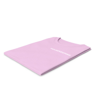 Female Crew Neck Folded Pink Housekeeping PNG & PSD Images