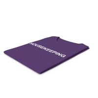 Female Crew Neck Folded Purple Housekeeping PNG & PSD Images