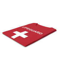 Female Crew Neck Folded Red Lifeguard PNG & PSD Images
