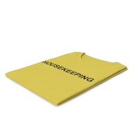 Female Crew Neck Folded Yellow Housekeeping PNG & PSD Images