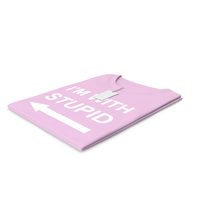 Female Crew Neck Folded With Tag Pink Im With Stupid PNG & PSD Images