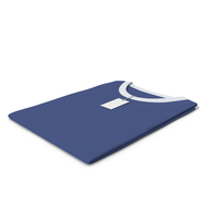 Female Crew Neck Folded With Tag White and Dark Blue PNG & PSD Images