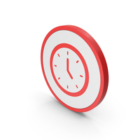 Icon Clock Red PNG & PSD Images