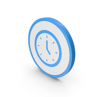 Icon Clock Blue PNG & PSD Images