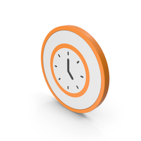 Icon Clock Orange PNG & PSD Images