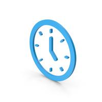 Symbol Clock Blue PNG & PSD Images