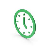 Symbol Clock Green PNG & PSD Images