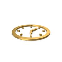 Gold Symbol Clock PNG & PSD Images