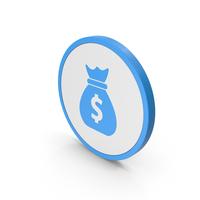 Icon Money Bag Blue PNG & PSD Images