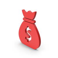 Symbol Money Bag Red PNG & PSD Images