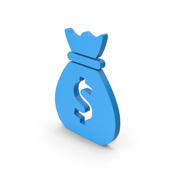 Symbol Money Bag Blue PNG & PSD Images