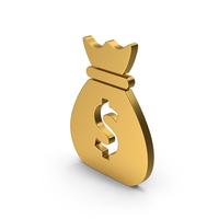 Symbol Money Bag Gold PNG & PSD Images
