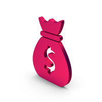 Symbol Money Bag Metallic PNG & PSD Images
