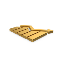 Gold Symbol Graph PNG & PSD Images